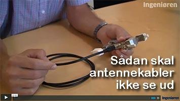 Sådan skal antennekabler ikke se ud